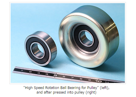 "Development of ""High Speed Rotation Ball Bearing for Pulley"""